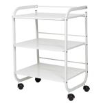 Carrito de 3 estantes con ruedas - Blanco