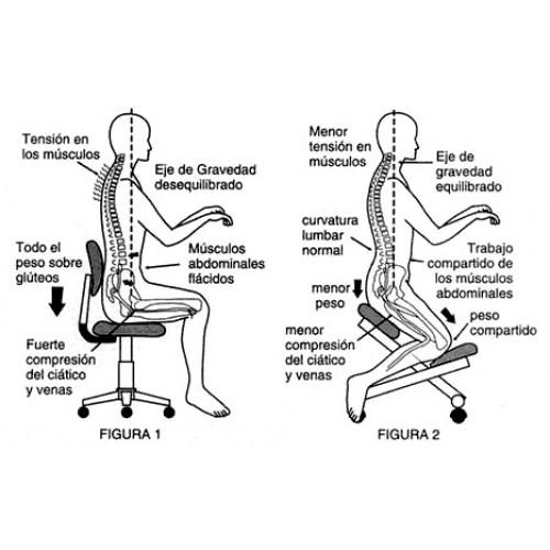 Silla ergonomica con ruedas camillas y productos de for Sillas cajeras ergonomicas